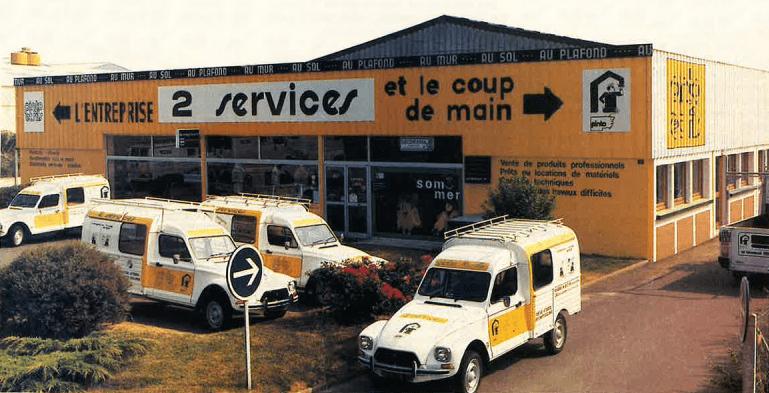 Ancienne devanture du magasin